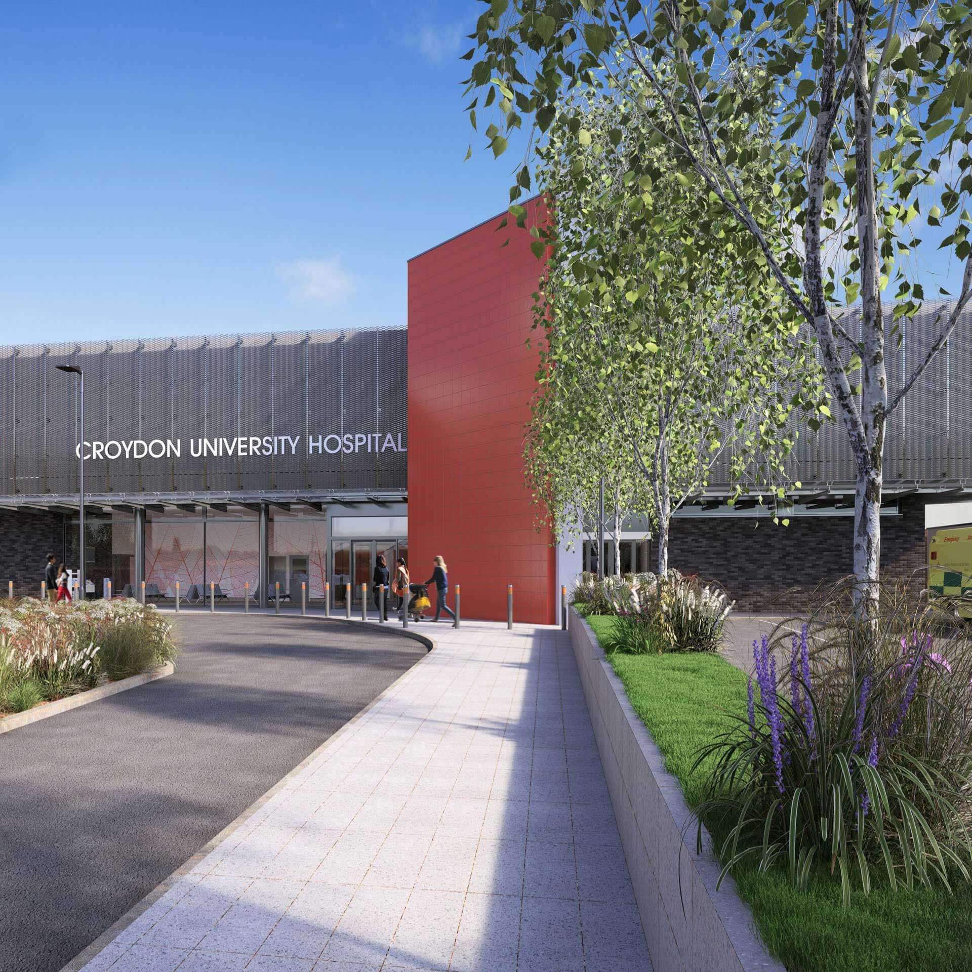 TB+A Croydon University Hospital, Emergency Department, London